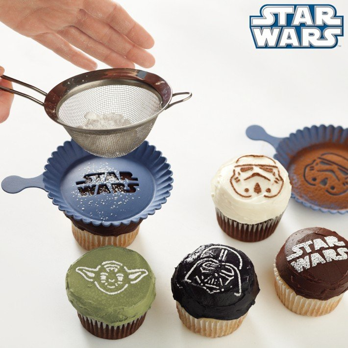 Awesome DIY Star Wars Cupcakes- Check Out More May the 4th be with you ideas on the blog! - B. Lovely Events