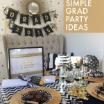 Lovely Golden Themed Grad Party- See More Gold Graduation Ideas on B. Lovely Events