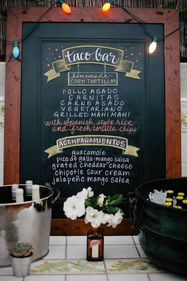 Lovely Taco Bar Sign- See more lovely Taco Bars On B. Lovely Events