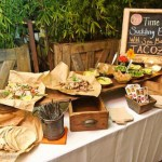 Lovely taco bar set up- See more lovely Taco Bars On B. Lovely Events