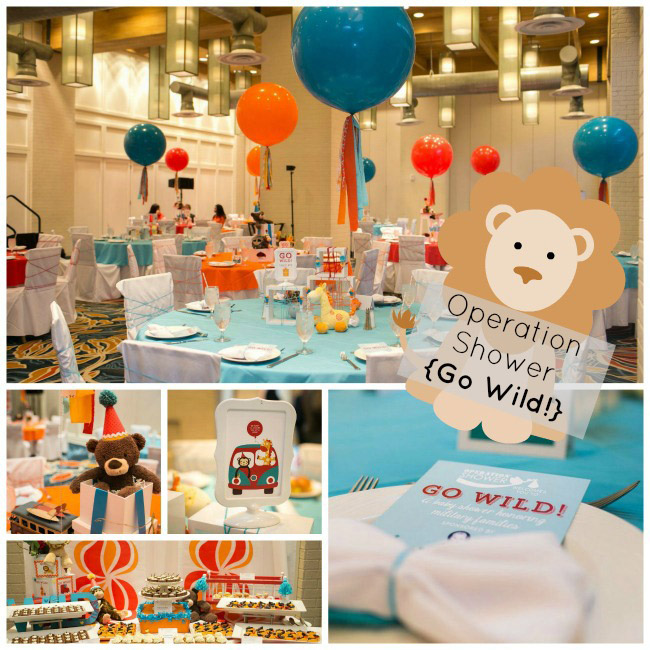 Operation Shower- Go Wild Baby Shower- See All Of The Lovely Details on B. Lovely Events