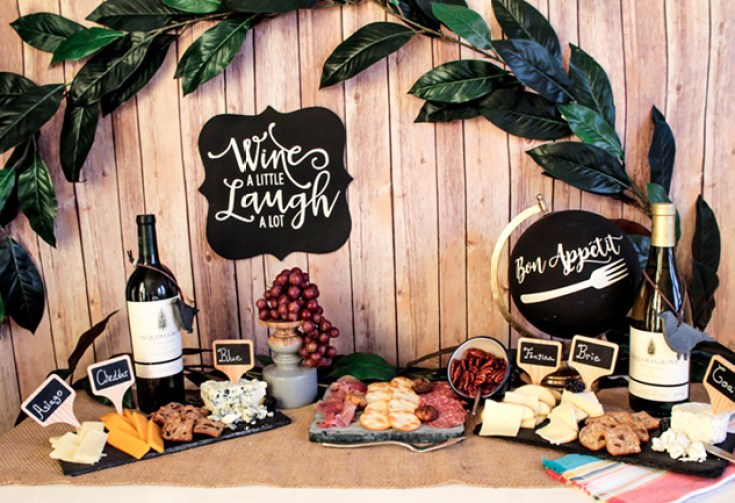 Wine And Cheese Night With Sequoia Grove- See the whole wine and cheese party on B. Lovely Events