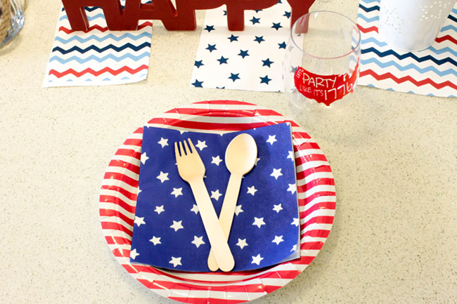 4th Of July Stars and strips place setting-B. Lovely Events