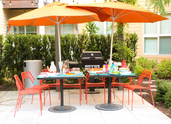 Backyard BBQ Burger Bar- Learn our favorite essentials on B. Lovely Events