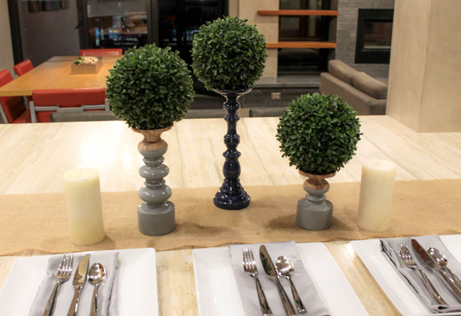 DIY Topiary Boxwood Modern Centerpieces (1) -Learn How To Make Them On B. Lovely Events