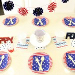 Fun Stars And Stripes 4th of July Tablescape- B. Lovely Events