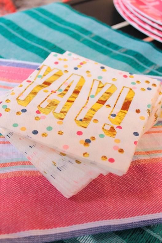 Fun Summer Yay Confetti Napkins! - B. Lovely Events