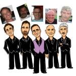 Giveaway wedding groomsmen Character