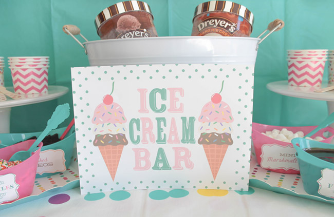 Ice Cream Party Sign- See more ice cream party ideas on B. Lovely Events