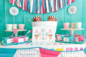 Polka Dotted Ice Cream Party Perfect For Summer! {Plus Free Printables!}