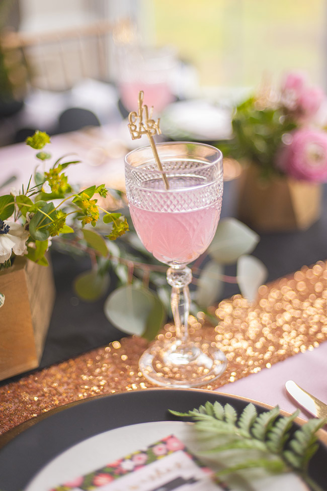 Lovely Pink Baby Shower Drinks