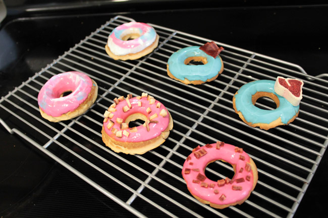Puppy Party Dog Donuts- Get the recipe on B. Lovely Events