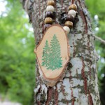 Kid's Camp out Wooden necklace activity - See More Lovely Kid's Camp Out Ideas on B. Lovely Events