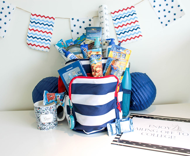 Nautical Send Off Basket- Sailing Away To College! - B. Lovely Events