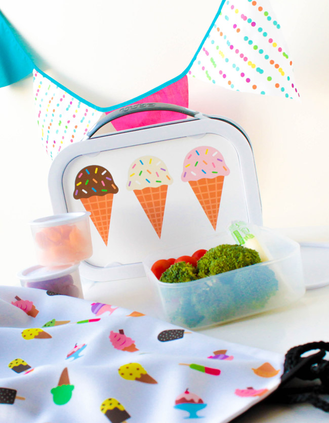 This Lunch box is darling! more ice cream school supplies on B. Lovely Events