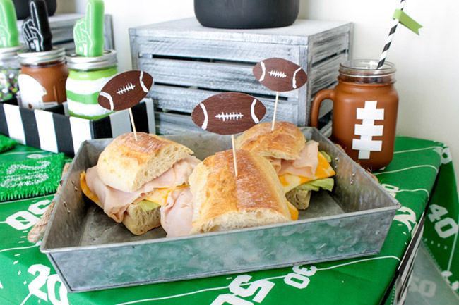 fun-football-tailgate-sandwiches- B. Lovely Events