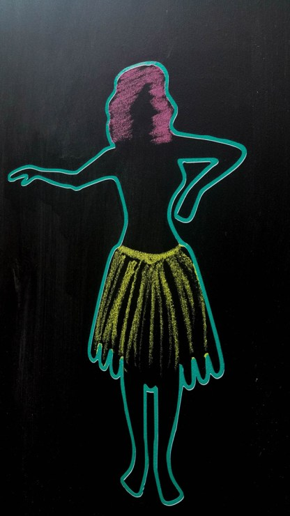 hula-chalkboard-girl-at-tropical-party