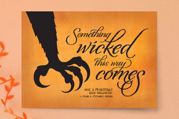 Halloween Cat Silhouette Invitation