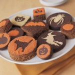 Halloween silhouette brownies