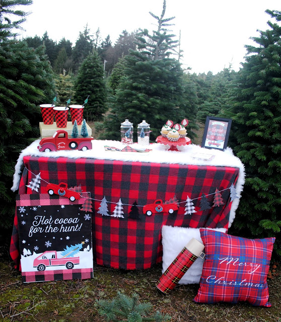 This Buffalo plaid party is so adorable- See More Buffalo Check Ideas on B. Lovely Events