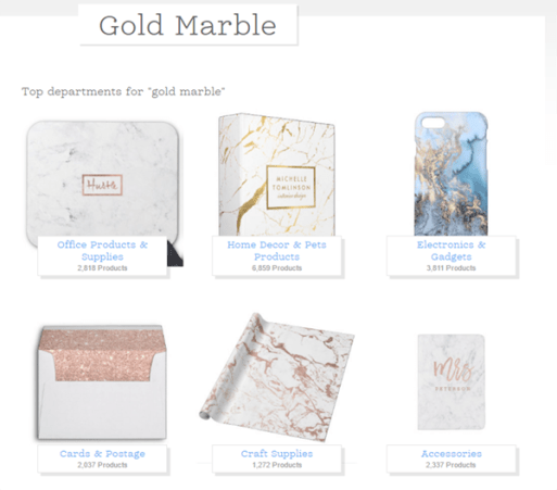 Zazzle Gold and Marble Ideas