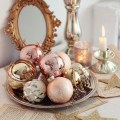 Rose Gold Chirstmas Home Decor