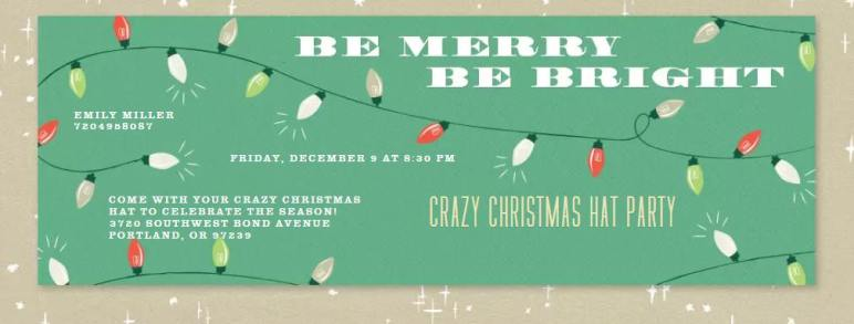 Winter Holiday Party Invite