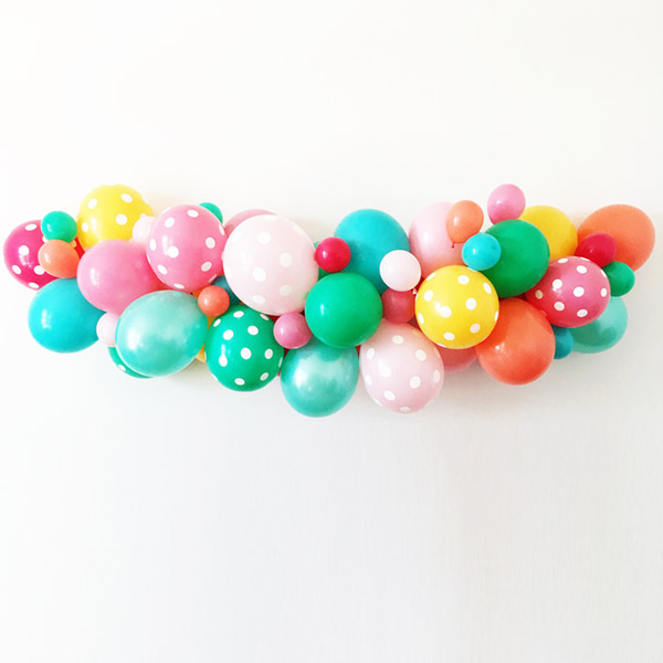 Fun Balloon Garland- And it's a kit! - See why they are our new obsession on B. Lovely Events