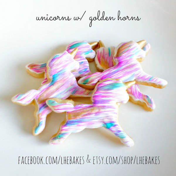Love these Watercolor Unicorn Cookies- See more lovely Unicorn Party Ideas on B. Lovely Events