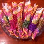 Mardi Gras Napkin Idea- See More Mardi Gras Ideas On B. Lovely Events