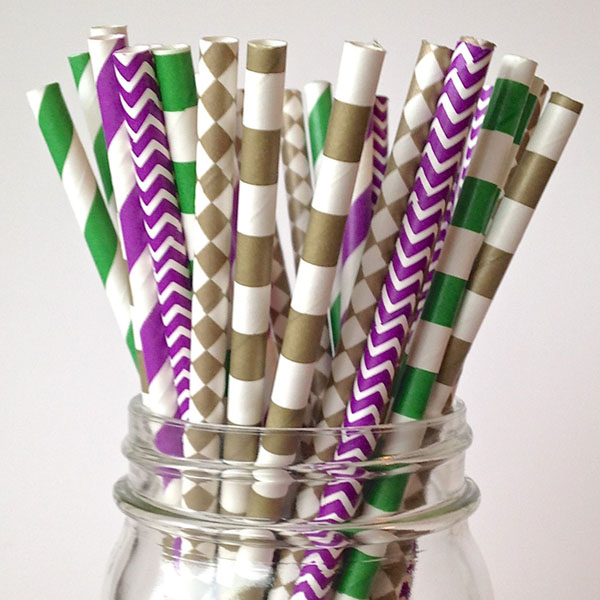 Mardi Gras Straws- See More Mardi Gras Ideas on B. Lovely Events