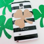 DIY Shamrock Phone Cover- See how to make it on B. Lovely Events