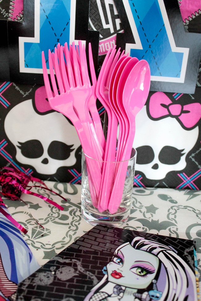 Monster High Birthday Party Ideas- See more cute party details on B. Lovely Events