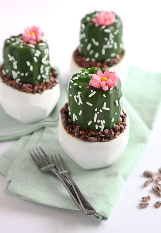 Mini Potted Cactus Cakes! - See Lovely & Fun Cactus Ideas on B. Lovely Events