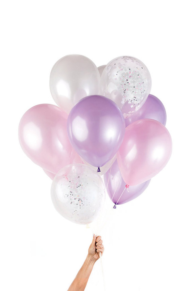 Iridescent Party Balloons- So cute! - See more iridescent hologram party ideas on B. Lovely Events