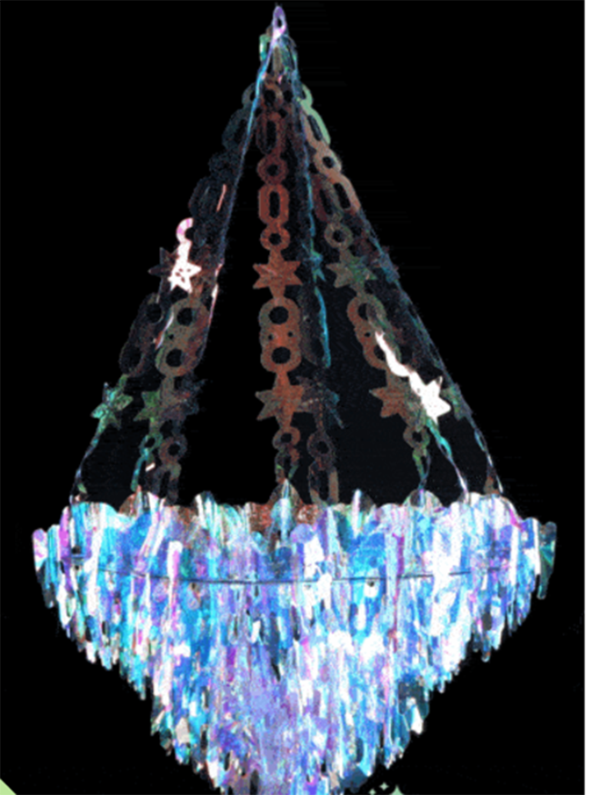 Iridescent Party Chandelier - See more iridescent hologram party ideas on B. Lovely Events