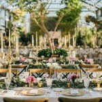 Romantic outdoor floral and greenery wedding