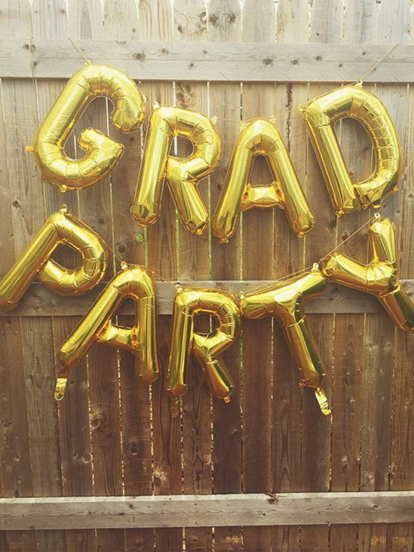 Love these Grad Party balloons - See more graduation Party ideas on B. Lovely Events