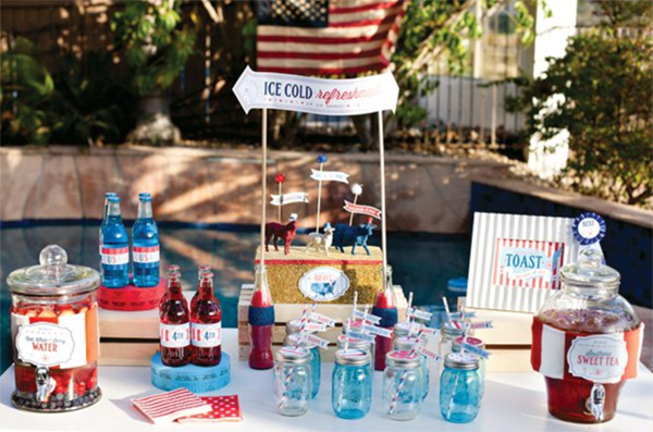 The loveliest 4th of July dessert table! - See 10 of our favorite 4th of July Parties on B. Lovely Events!