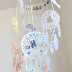 DIY Dream catcher Mobile - Learn how to make it on B. Lovely Events