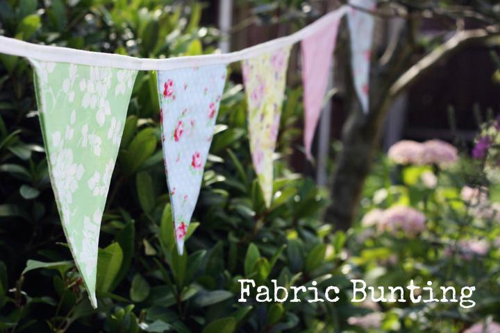 DIY Wedding bunting banner