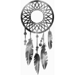 Dreamcatcher silhouette - Learn how to make a DIY dream catcher mobile on B. Lovely Events