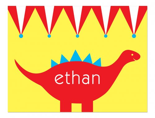 Love these personalized Dinosaur party cards- perfect for thank you notes!