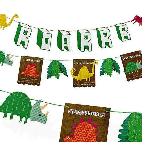 Love this dinosaur party garland