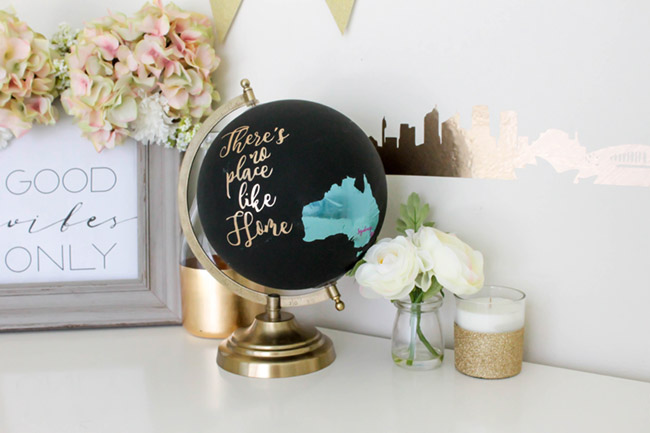 DIY Australian Home Decor- There is No place like home- See how to make this and more on B. Lovely Events!