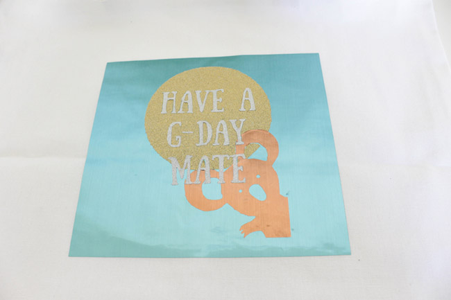 DIY Have a G-Day Mate Tote - See how to make it on B. Lovely Events