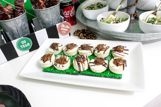 Football Party Cookies-See more Football party details at B. Lovely Events