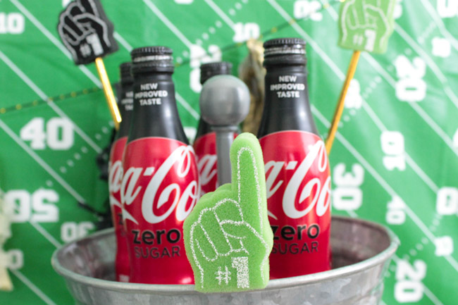Football Party Drinks-See more Football party details at B. Lovely Events