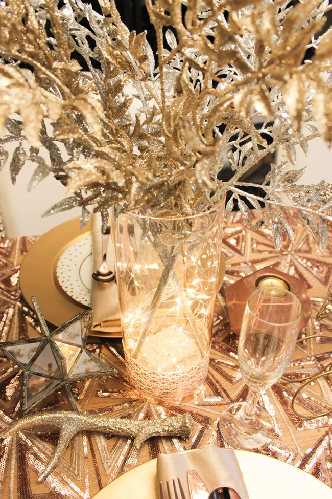 New Year's Eve Tablescape and centerpiece - B. Lovely Events