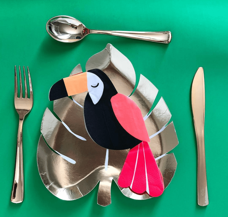 I am in love with these Toucan napkins! - See More Toucan Party Ideas at B. Lovely Events